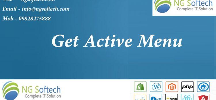 Active Menu