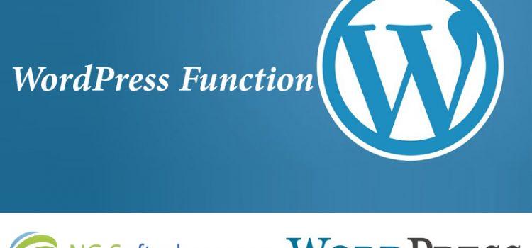 WordPress Function